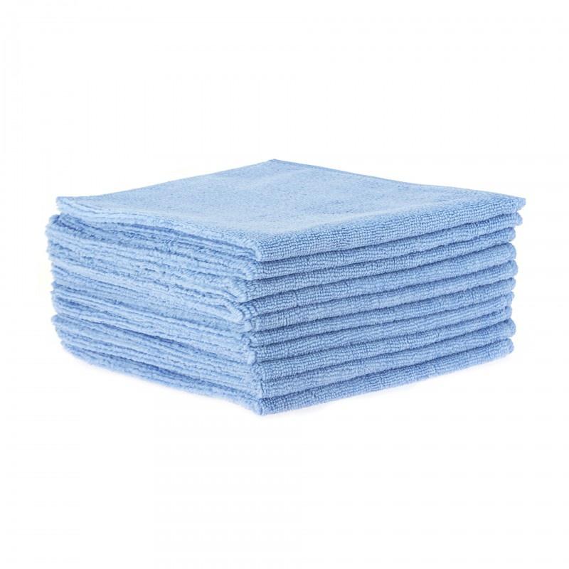 Lavettes microfibres bleues