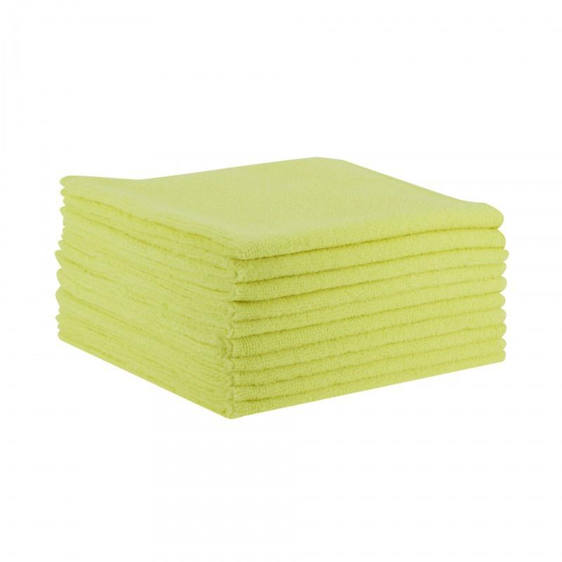 Lavettes microfibres jaunes